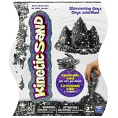 Kinetic Sand Кинетический песок черный с блестками Драгоценные камни metallic shimmering black onyx