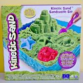 Kinetic Sand Кинетический песок набор замок. Зеленый песок с лотоком-песочницей sandcastle set
