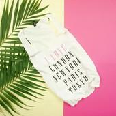 M H&m актуальная удлиненная футболка в принт!