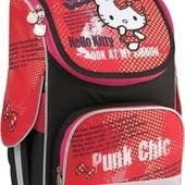 Рюкзак Kite каркасный 501 Hello Kitty для девочки 1-4 кл. Качество!