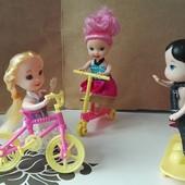 Велосипед, самокат, скейт для кукол.