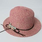 Шляпка летняя с цветами