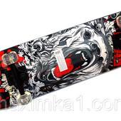 Спортивный скейт MS 0355 Profi. Нагрузка до 100 кг. Поверхность наждачка. 9 слоев дерева.