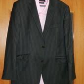 """Пиджак мужской серый со светло-белой полосочкой р. 50-52 """"Savilerow"""""""