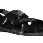 Мужские сандалии очень стильные эко-нубук 2 в 1 (РУ-7чв)