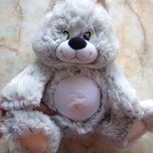 Мягкая игрушка котик фирмы Левеня