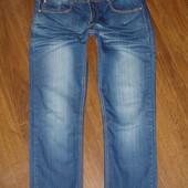 Фирменные стрейчевые стильные джинсы узкачи на 48-50 размер в новом состоянии