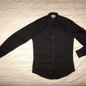 Черная рубашка Zara разм.S-M
