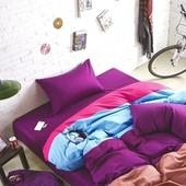 Постельное белье Color Mix цветное яркое полуторное, двуспалка евро семейное. Супер подарок