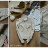 Натуральная кожаная куртка в цвете Nude р-р Л