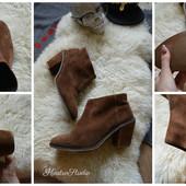 Стильные замшевые ботинки р-р 40