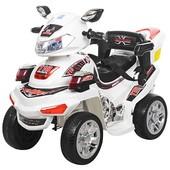 Спортивный электроквадроцикл Bambi белый (M 0633-1)