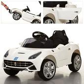 Детский электромобиль m 3176 ebr-1: 2.4G. eva-колеса, 50w - белый