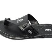 Шлепанцы мужские Adidas Style 700 черные (реплика)