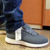 Цена снижена)Мужские кроссовки текстиль в стиле Nike серые.
