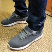 Мужские кроссовки текстиль в стиле Nike серые.