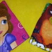 Пляжное полотенце для детей Принцесса София и Angry birds