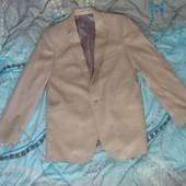 Мужской костюм бежевый брюки и пиджак