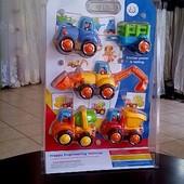 Набір машинок Huile Toys  4 шт., бліст., 24-35 см
