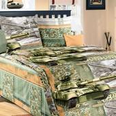 Комплект постельного белья Танки ,бязь гост