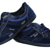 Кроссовки летние для мужчин синего цвета (БЛ-05сз)
