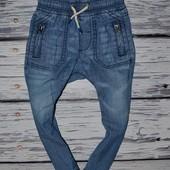 12 - 18 месяцев 86 см очень крутые фирменные легкие джинсы Мазекеа Mothercare
