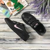 Оригинальные сникеры Nike с тремя липучками на равномерной подошве  SH30001