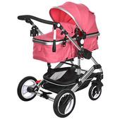 Универсальная коляска - книжка 535-q3-pink,складывается,11,5 кг