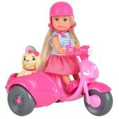 Кукла Еви Прогулка на скутере с собачкой Evi Love (573 6584)