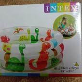 Детский надувной бассейн intex «динозаврик»