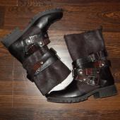 Стильні чоботи в байкерському стилі р 36