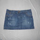 L-XL, поб 50-52, крутая! джинсовая юбка рванка Dorothy Perkins