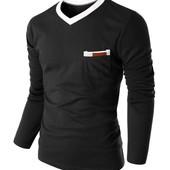 Пуловер с карманом Размер Л