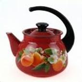Чайник эмалированный 3л Красный 42715-123/6