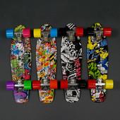 Скейт Profi Penny Board 22 дюйма абстракция