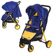 Коляска el Camino prego M 3435-4 сине-желтая(M 3435),большой выбор