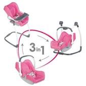 Автокресло, переноска, стульчик для куклы, Smoby Maxi Cosi 3 в 1, 240226