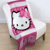Детский флисовый плед Hello Kitty для девочек 120х150 см