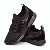 Кроссовки мужские модные черные (D301)