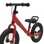 Беговел 12 kiddi moto super junior max, металлический красный, велобег, без педалей, велосипед