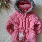 Классная курточка пальто для юной модницы от Young dimensions,p.18-24 мес.