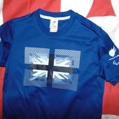Спортивная оригинал олимпийская футболка adidas зб Британии .9-12 лет .