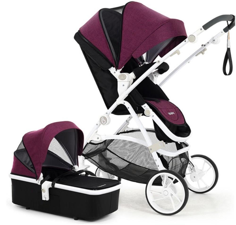 Универсальная коляска 2в1 m-go romantic purple babysing франция сиреневый 12122826 фото №1