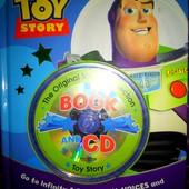 """Книга на английском для детей """"История игрушек"""" с диском."""