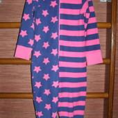 Пижама флисовая, девочке на 7-8 лет, рост до 128 см