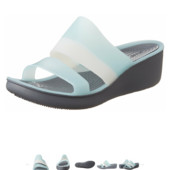Шлепанцы Crocs ColorBlock Wedge (W9) цвет: морская пена