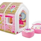 Детский надувной игровой домик  Intex