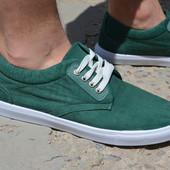 Мужские кеды низкие спортивные туфли зеленые