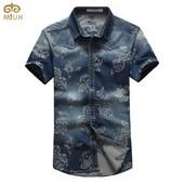 Шикарная , брендовая рубашка  !  - S - M