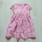 Нежное нарядное платье для маленькой принцессы. Babble Boom. Размер 9-12 месяцев. Состояние: идеал